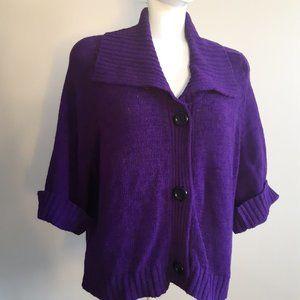 Jones Wear   3/4 sleeve 3 button cardigan